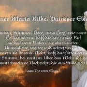 Stimmen, Stimmen. Aus: Rilke - Die erste Elegie