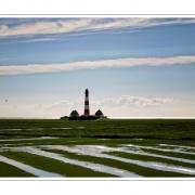 Streifen machen schlank | Leuchtturm Westerhever, Nordseeküste