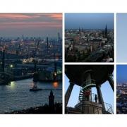 Schöner micheln für Anfänger (Ausblicke vom Turm von St. Michaelis, Hamburg)