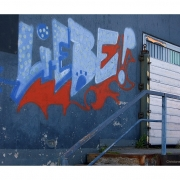 Liebe! (Graffiti am ehemaligen Kaispeicher A, Hamburg)